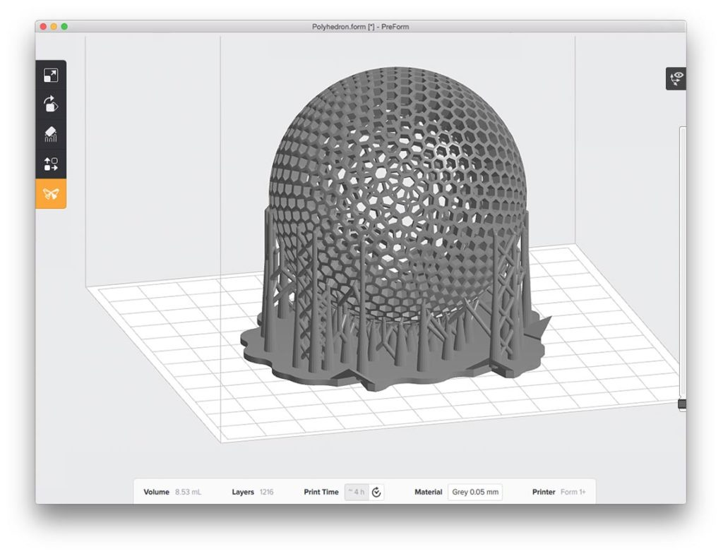 Formlabs-Form-2-Software-Preform