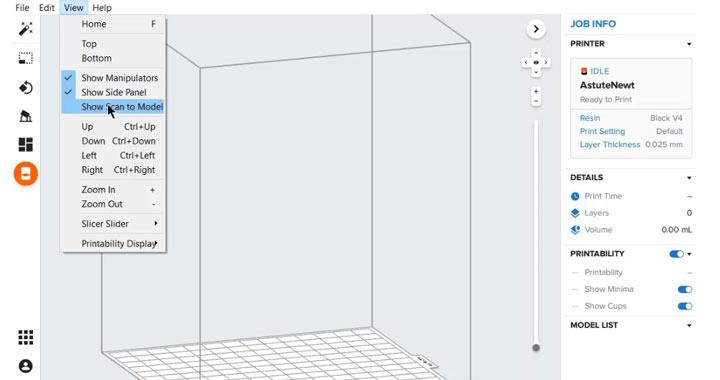Wo finde ich Formlabs Scan to Model Werkzeug?