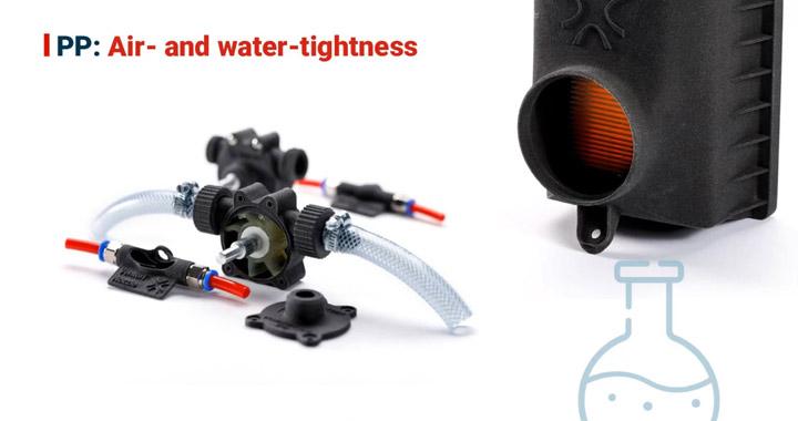 Luft- und wasserdichter 3D-Druck